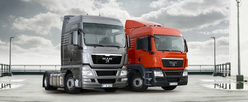 MAN TGX at Launch Alongside the smaller TGS