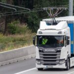 Scania pantograph electric truck