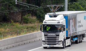 Scania pantograph electric truck
