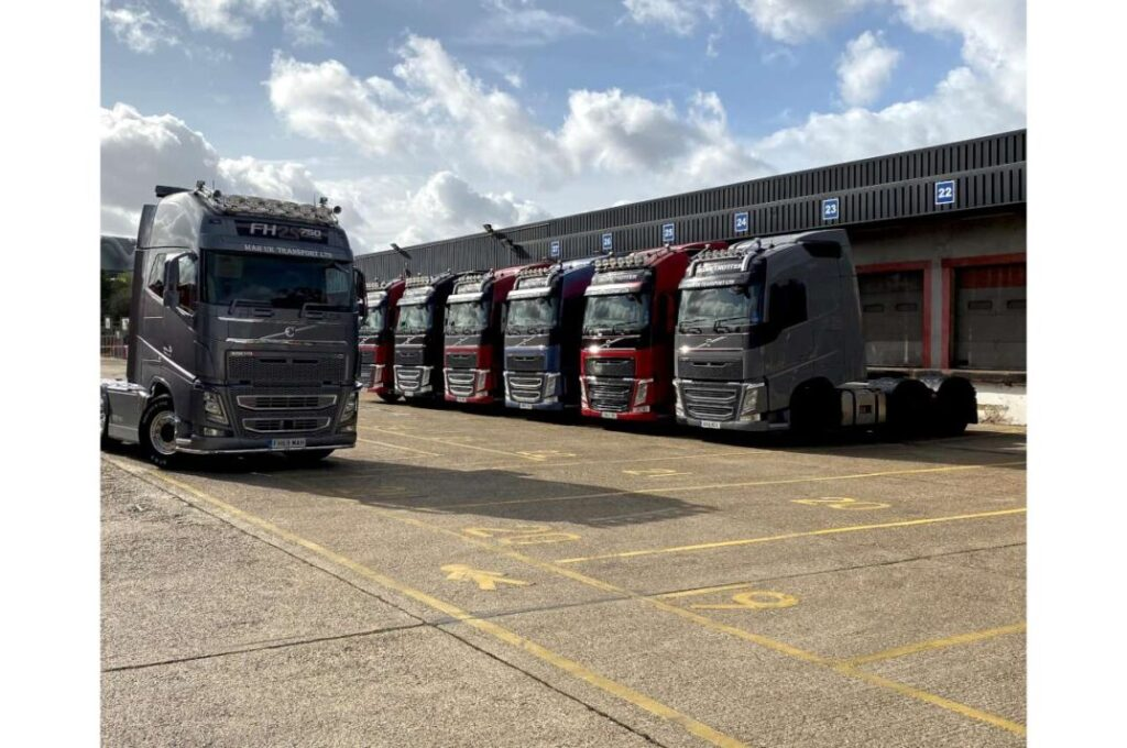Used Volvo FH Tractor Unit Line Up for MAH UK