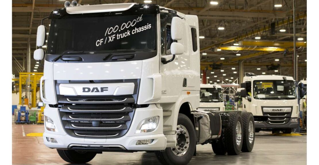 DAF CF 6x4 100,000th built at Leyland