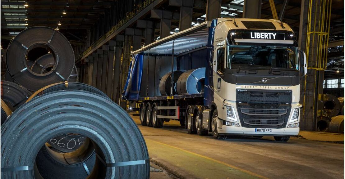 Volvo FH500 at work inside Steelworks