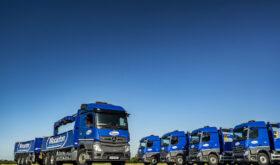 Mercedes Actros Crane truck fleet for Wincanton