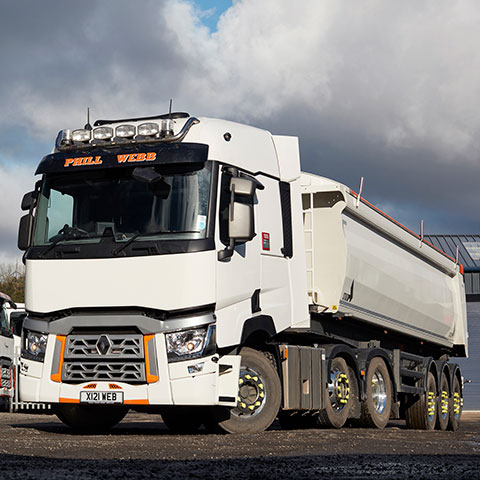 Renault T480 Tractor Unit & Tipping Trailer