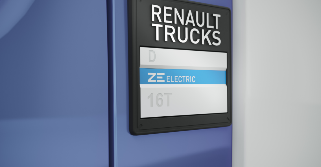 Renault Trucks ZE Electric Badge