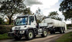 Mercedes Unimog Towing Milk Tanker Trailer