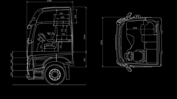 Mercedes Actros GigaSpace Cab Dimensions