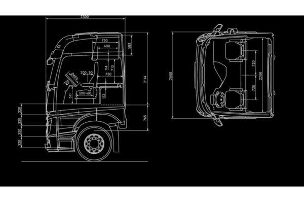 Mercedes Bigspace cab diagram