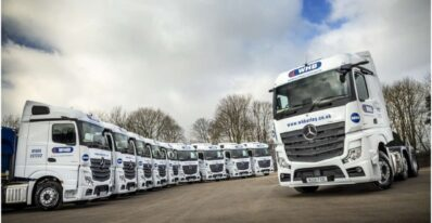 Mercedes Actros Display UK haulier