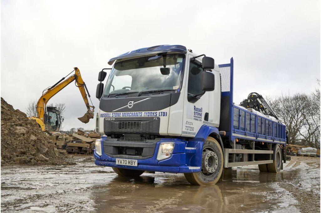 Volvo FL Crane Truck & Excavator