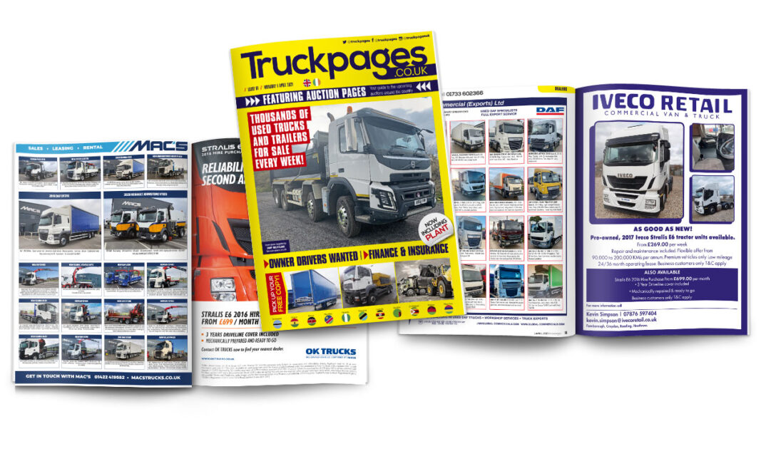 Truckpages magazine Issue 61 layout