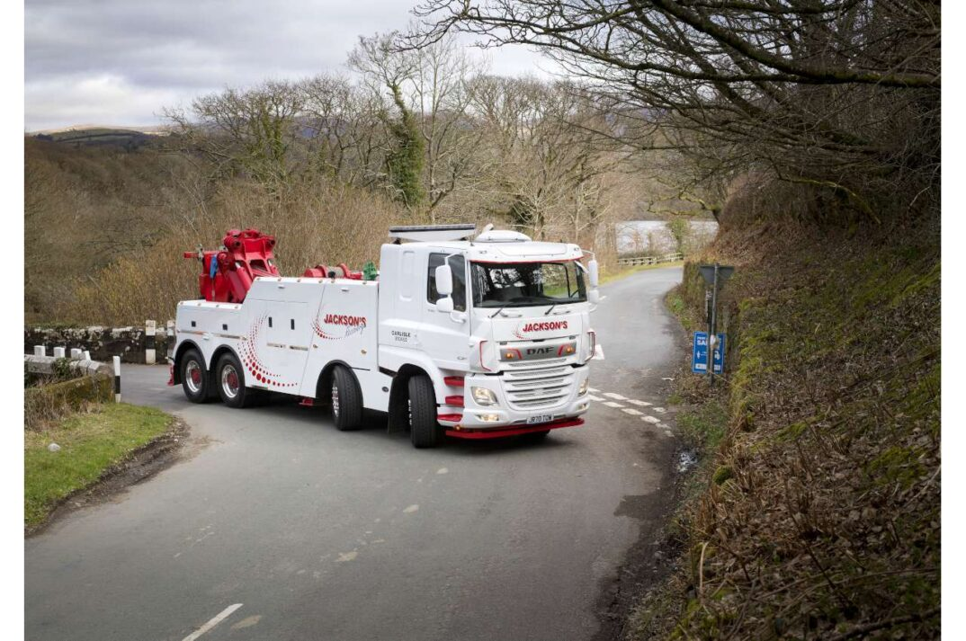 DAF Truck White moving