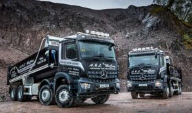 Mercedes Arocs 3240 Tippers in quarry