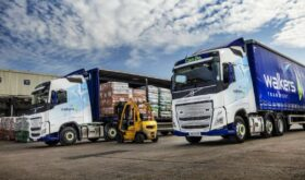 Volvo FH Globetrotter being loaded